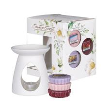 Yankee Candle Garden Hideaway Wax Melt Warmer Gift Set