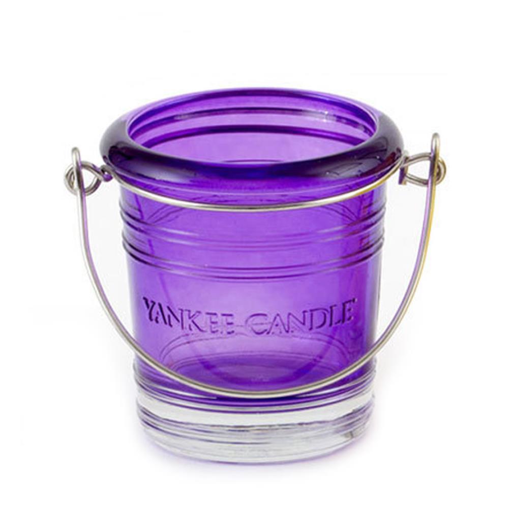 Yankee Candle Clear Bucket Purple Votive Holder 1285752 Candle Emporium