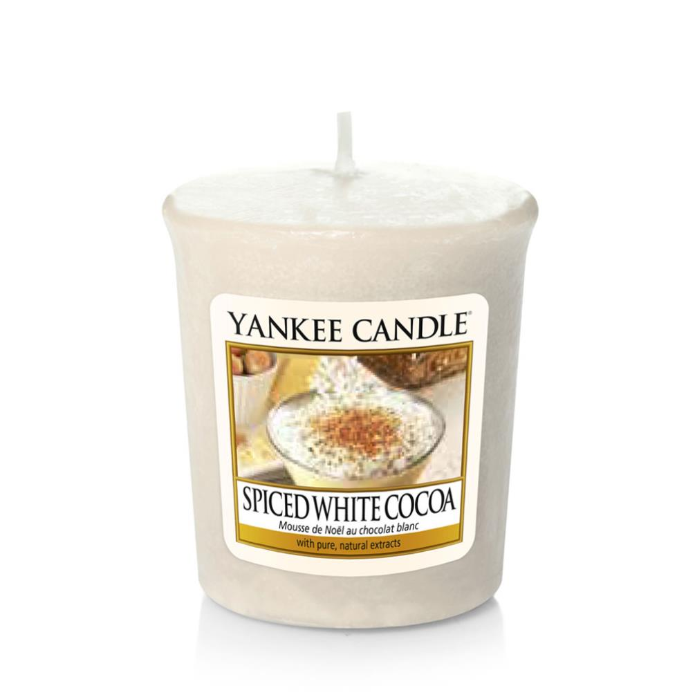 Yankee Candle Spiced White Cocoa Small Jar FREE P/&P