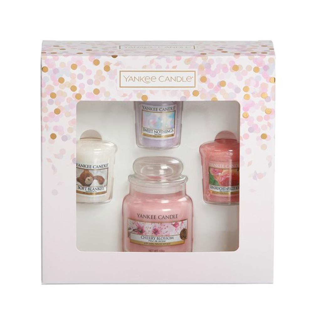 Yankee Candle Wedding Day Gift Set: Yankee Candle 3 Votive Candles & Small Jar Gift Set