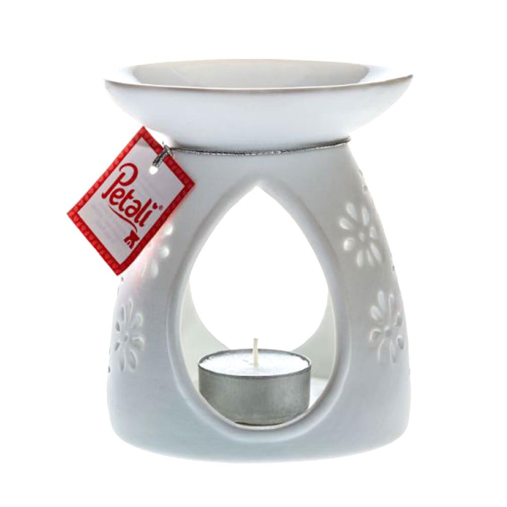 Petali White Ceramic Wax Melt Warmer Pts010628 Candle Emporium